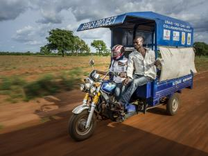 tricycle ambulance, motorized tricycle, charity gifts