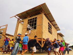 transitional shelter after a disaster, charity gifts