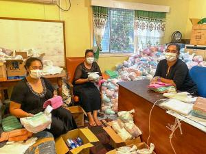 emergency supply and hygiene kit after a disaster, charity gifts