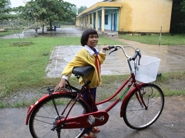 modified bicycle for a student, charity gifts